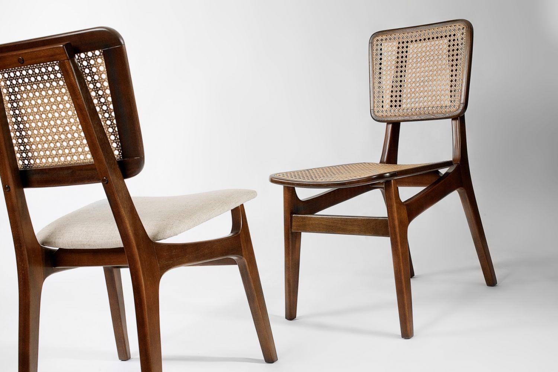 Image of: Cadeira Em Madeira Com Assento E Encosto Em Palha Ou Assento E Encosto Estofado Zaika Mobiliario
